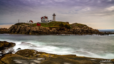 Late afternoon in Maine, Cape Neddick (Nubble) Light (1879)