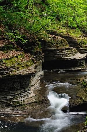 Buttermilk Falls Gorge Trail - Heart Shaped Falls