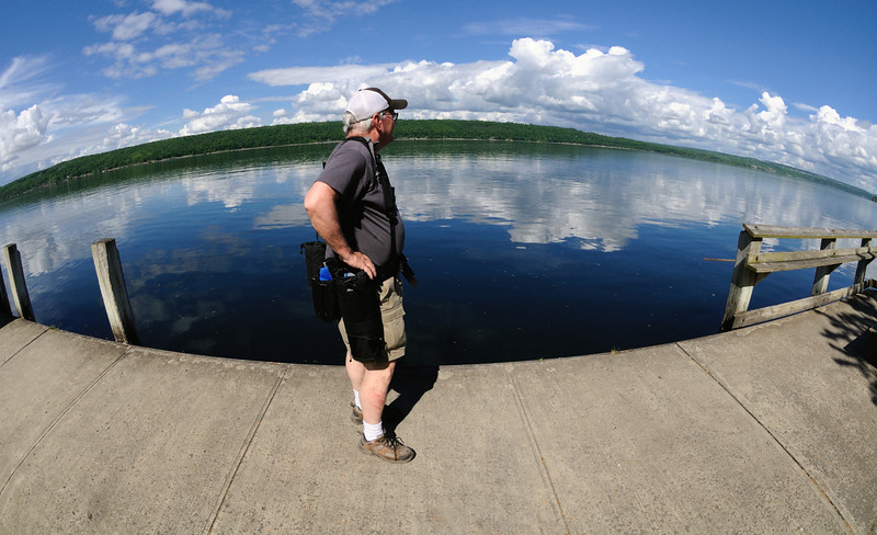 Me checking out the view at Cayuga Lake