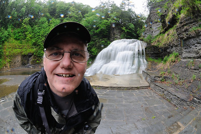Me at the Lower Falls at the Robert H. Treman State Park, yeah it's raining!!!
