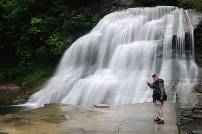 A very light rain was falling as I explored the Robert H Treman State Park, this is the Lower Falls.    You don't think a little thing like rain is gonna stop me from taking photos do you. I have fun rain or shine!!!