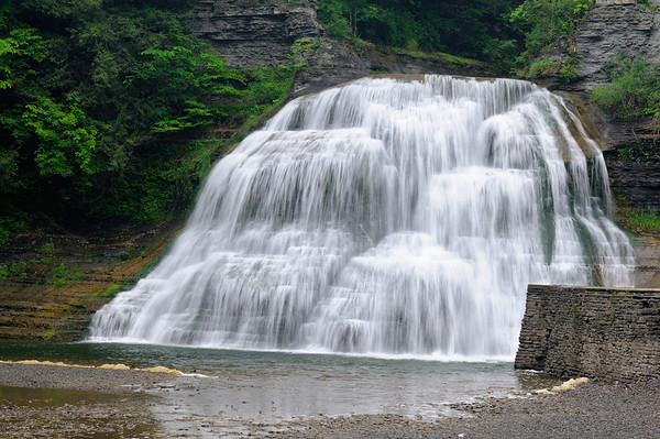 Robert H. Treman State Park - Lower Falls - Swimming is allowed in the pool below this falls.