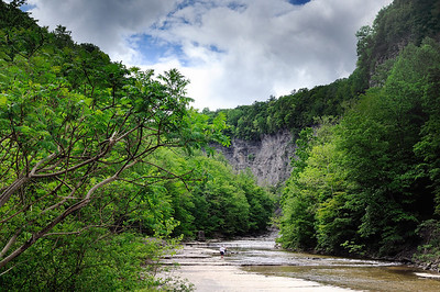 Bill Lewis on the hike to Taughannock Falls