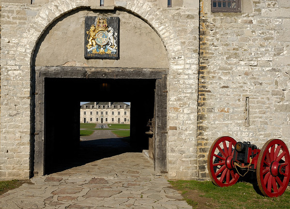 French Castle view thru the Gun Tower