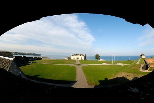 Fisheyed view of Old Fort Niagara from Guard Tower