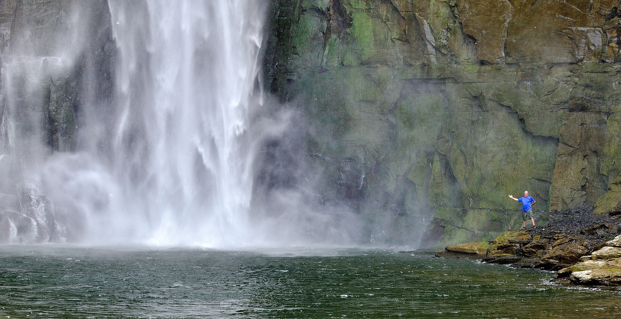 Ken at the base of Taughannock Falls
