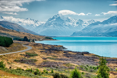 Mt. Cook and Lake Pukaki, New Zealand - 2016