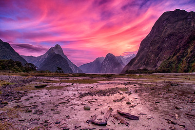 Sunrise over Milford Sound, New Zealand - 2016