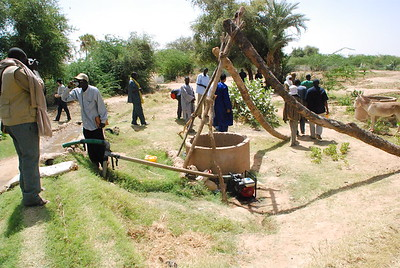 Generator powered well.  This has allowed the village to plant cash crops for resale.