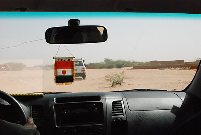 en route across the desert.  Takes a special driving skill to navigate the terrain