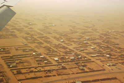 Arial view of Agadez.  Desertification is a major problem in land-locked and resource-poor Niger.