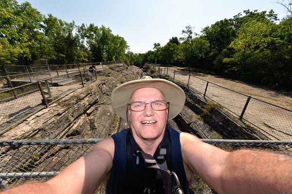 Me at the Glacial Grooves - Kelley's Island