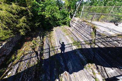 My Shadow in the Groove - Glacial Grooves - Kelley's Island