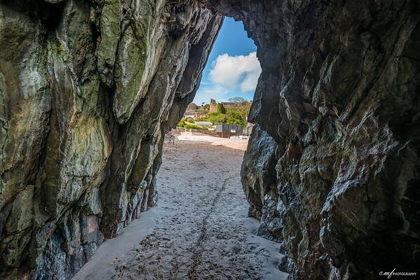 A cave in Tenby beach
