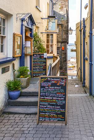 The colorful menu