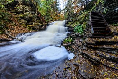 Onondaga Falls 15' high and trail
