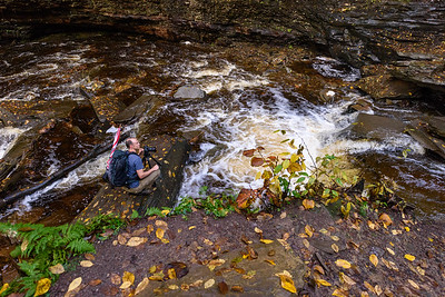 Photgrapher photographing Shawnee Falls