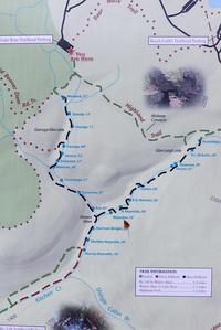 Map of Ricketts Glen Waterfalls