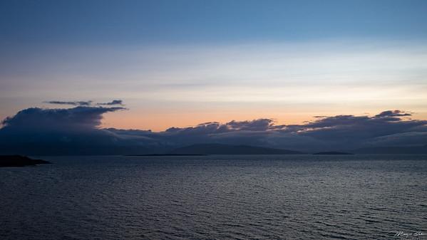 Sunset from Isle of Skye Bridge