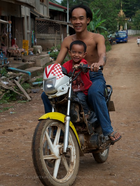 Luang Prabang, Laos - small UNESCO Village on the Mekong River (across from LP)<br /> TK3_0927
