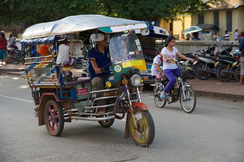Luang Prabang, Laos - small UNESCO Village on the Mekong River (across from LP)<br /> TK3_1261