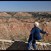 IM at a Windy Palo Duro Canyon Overlook