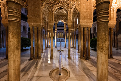 Court of the Lions, Alhambra, Granada, Spain - 2015