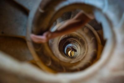 Spiral Staircase, Sagrada Familia, Barcelona, Spain - 2015