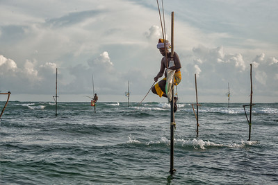 Stilt Fishermen in Kogalla, Sri Lanka - 2017