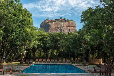 Sigiriya Rock View from Hotel Sigiriya, Sri Lanka - 2017