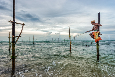 Stilit Fisherman in Kogalla, Sri Lanka - 2017