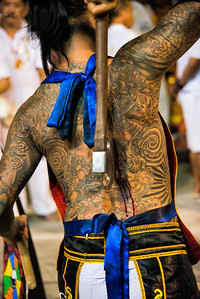 Mystic with Axe, Phuket Vegetarian Festival, Thailand - 2015