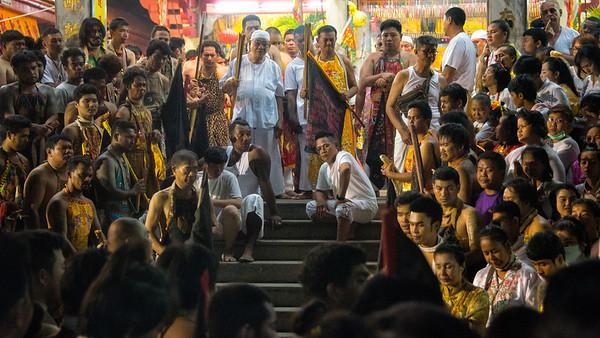 Mystics at the Jui Tui Shrine, Phuket Vegetarian Festival, Thailand - 2015