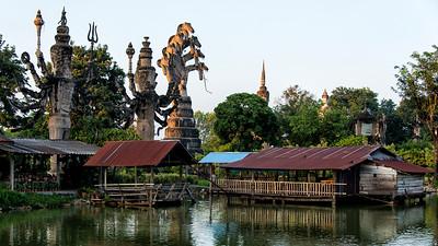 Giant Buddhist Statues, Sala Keoku Park, Nong Khai, Thailand - 2015