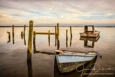 Sunken Oyster Boat, East Point, Florida