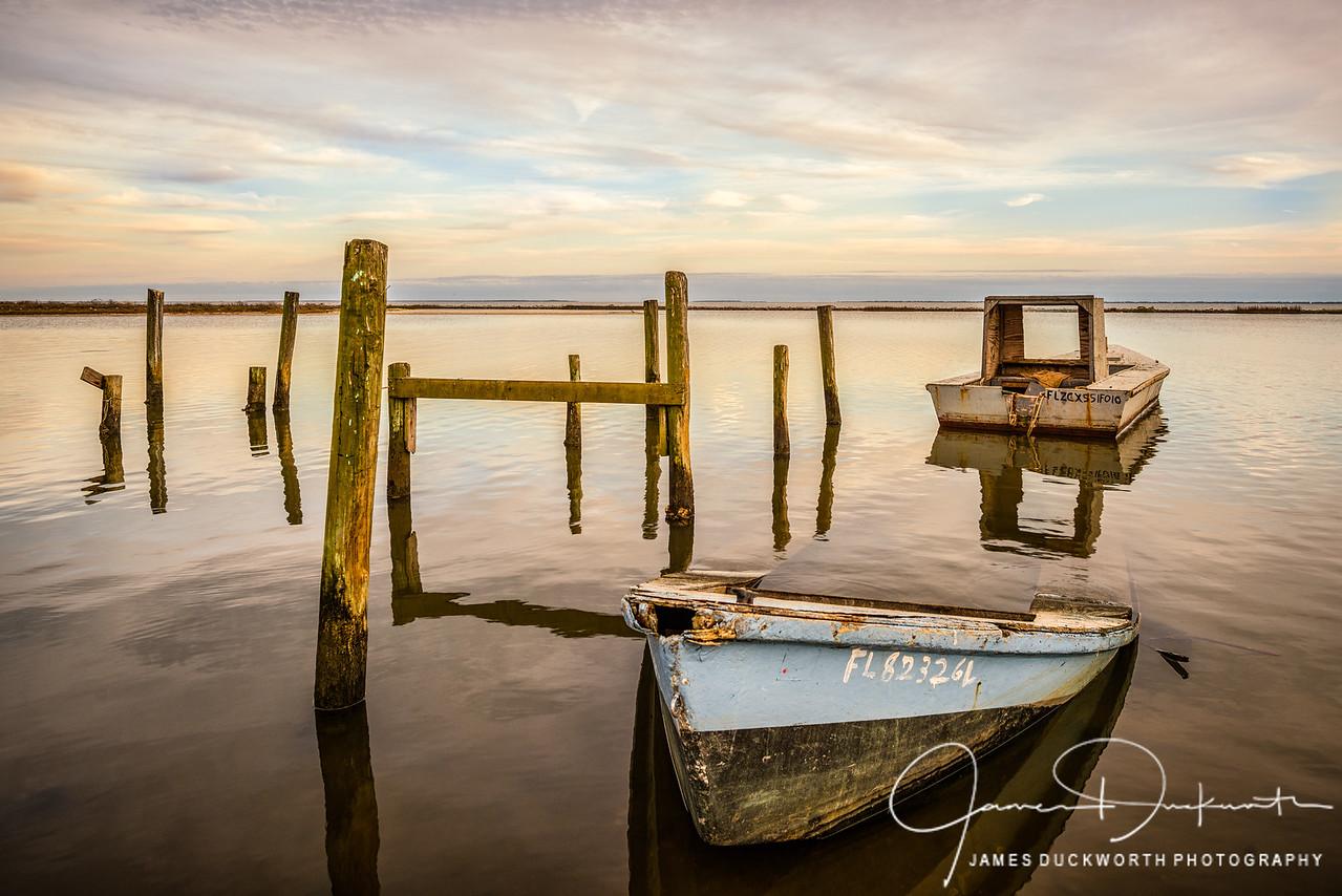 Sunken Oyster Boat, East Point, Florida