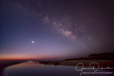 Venus Rising under the Milky Way