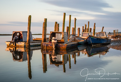 Oyster Boats Morning Light, East Point, Florida