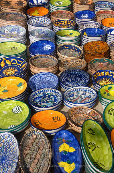 Local handmade pottery.
