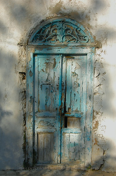 Weathered doorway.