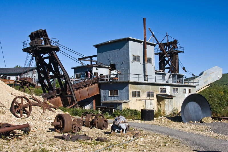Gold Dredge Number 8 - a historic site and museum (and tourist attraction) from the gold mining and panning era in Fairbanks, Alaska.
