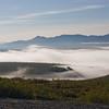 Fog and mist in Denali National Park in Alaska.
