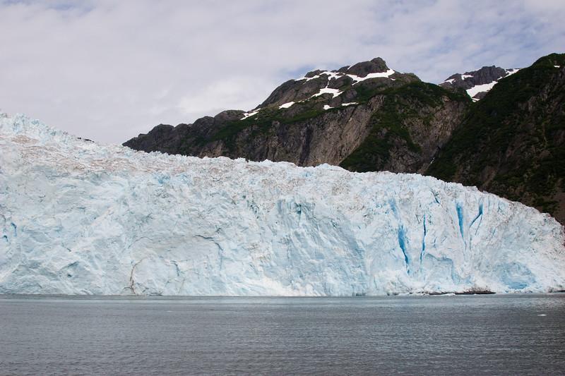 Aialik Glacier, a tidewater glacier in Kenai Fjords National Park in Alaska.