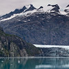 Margerie Glacier in Glacier Bay National Park on the West Coast of Alaska above the Inside Passage.
