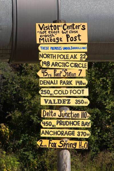 Alaskan Pipeline at Fairbanks, Alaska.