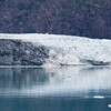 Margerie Glacier Calving in Glacier Bay National Park on the West Coast of Alaska above the Inside Passage.