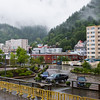 Juneau, Alaska, capital of Alaska, and port of call for cruise ships going to Alaska via the Inside Passage. Juneau lies in a temperate rainforest.