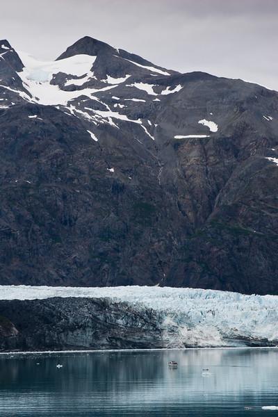 Margerie Glacier in Glacier Bay National Park on the West Coast of Alaska above the Inside Passage.
