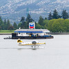 Seaplane tourist flight over Vancouver Harbor in Vancouver, British Columbia, Canada.
