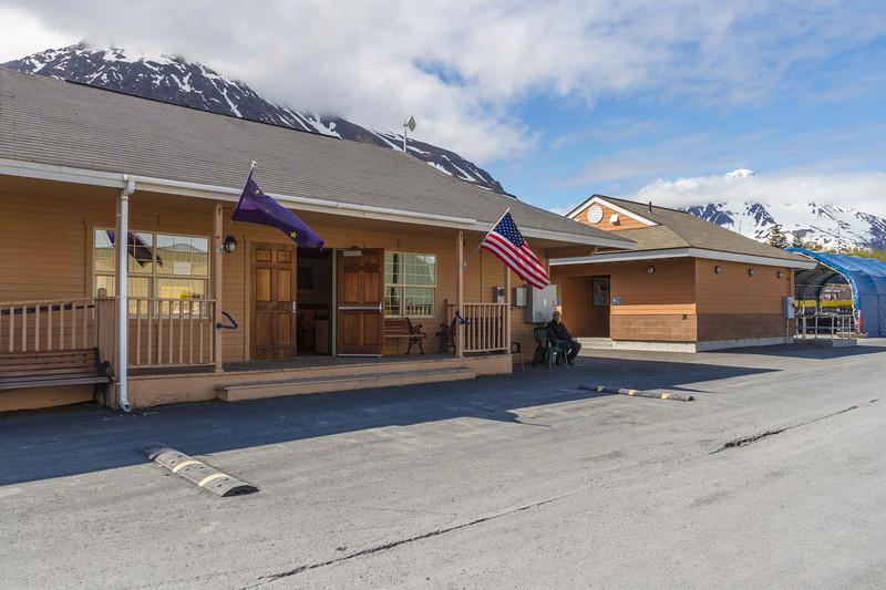Alaska Railroad Depot in Seward, Alaska.